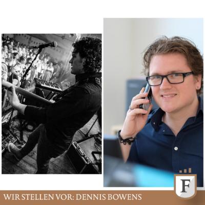 Dennis Bowens: Bassist einer Band und Vermögensberater beim Finanzcoaching am Nordpark